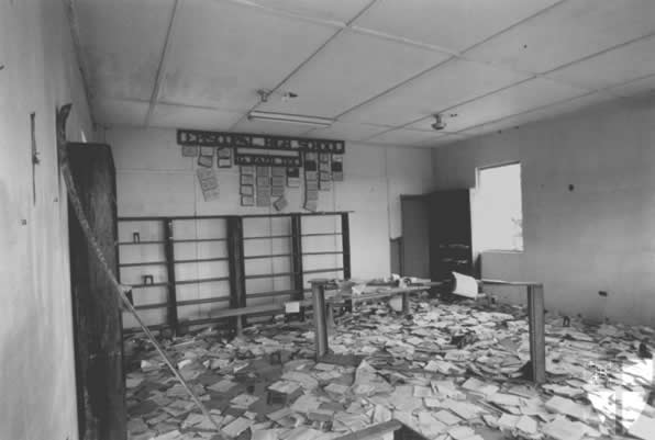 The library during the war.